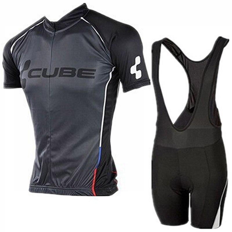 Цена за НОВЫЙ 2016 черный Команда задействуя джерси/задействуя одежда/Дышащий спортивная одежда велоспорт одежда команда CUBE Бесплатная Доставка настроить