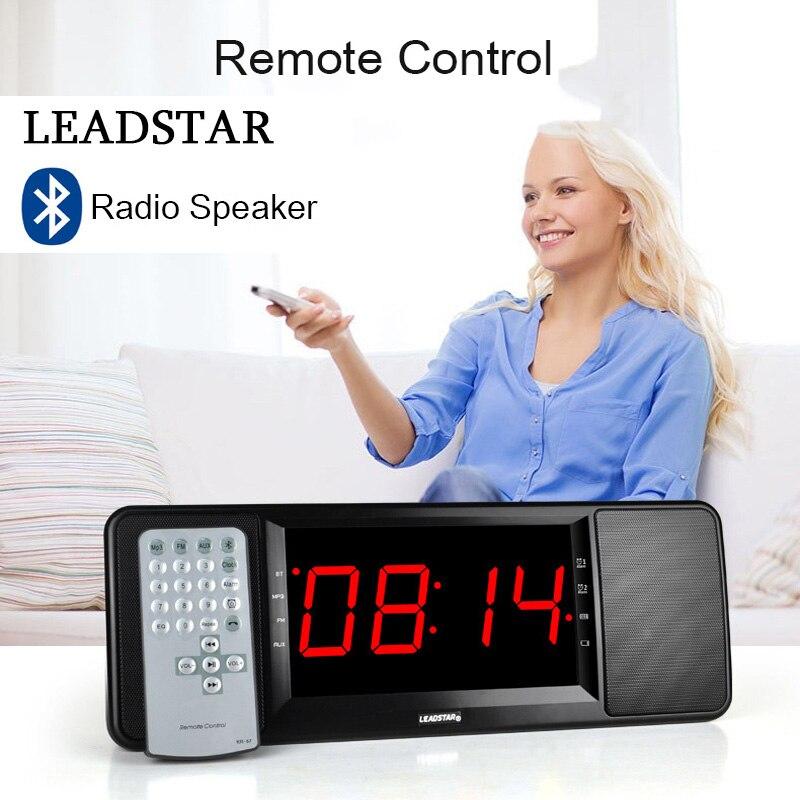 Bluetooth-Speaker Deep-Bass LEADSTAR Remote-Control Fm-Radio Led-Display with Mic Tf-Card