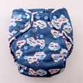 JinoBaby 1.0 Reusable Bamboo Newborn Cloth Diaper One Size Fitted Diaper (Couple Cloud)