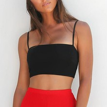 1PC Women Sexy Solid Crop Top Red Summer Fashion Tank Bustier Bra Vest Singlet