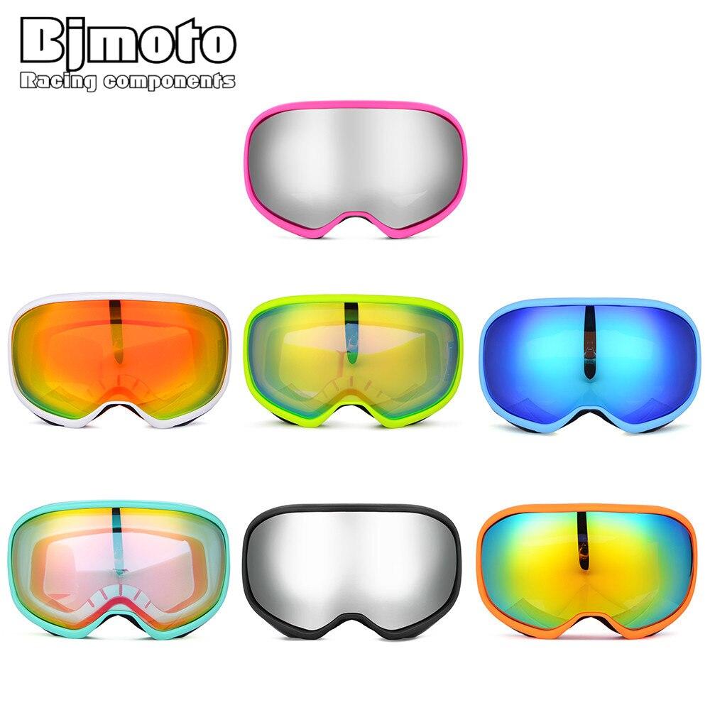 Bjmoto Winter Snowboard Snowmobile ski goggles double lens professional glasses skiing goggles Anti Fog Snow Glasses sunglasses