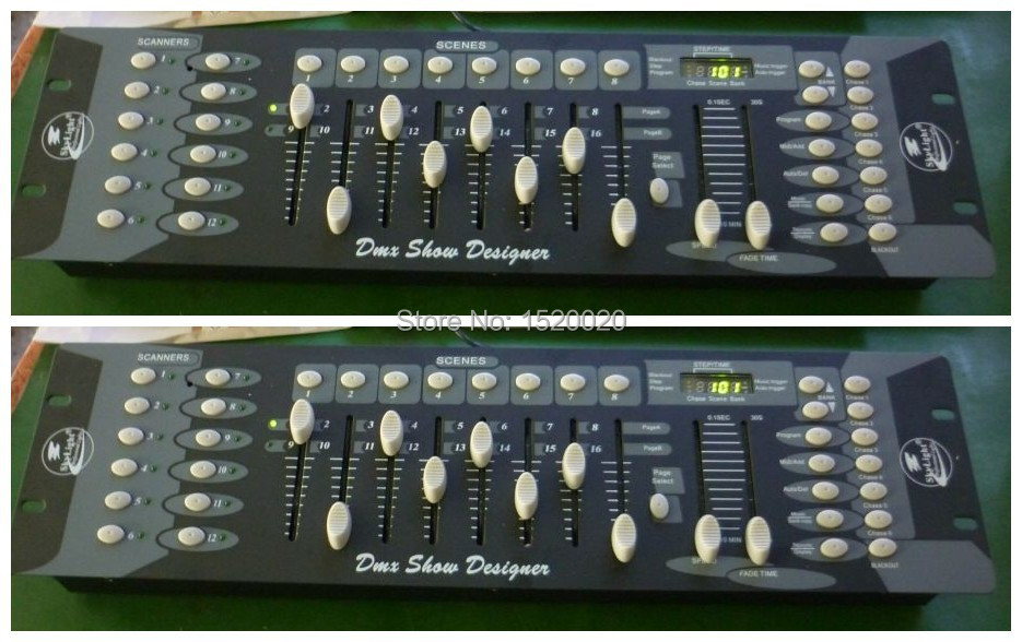 2Pcs/Lot Lighting Controller 192 Dmx Channels Control Unit 192 Console Good Quality Dmx Console Dj Light Controller dmx512 digital display 24ch dmx address controller dc5v 24v each ch max 3a 8 groups rgb controller