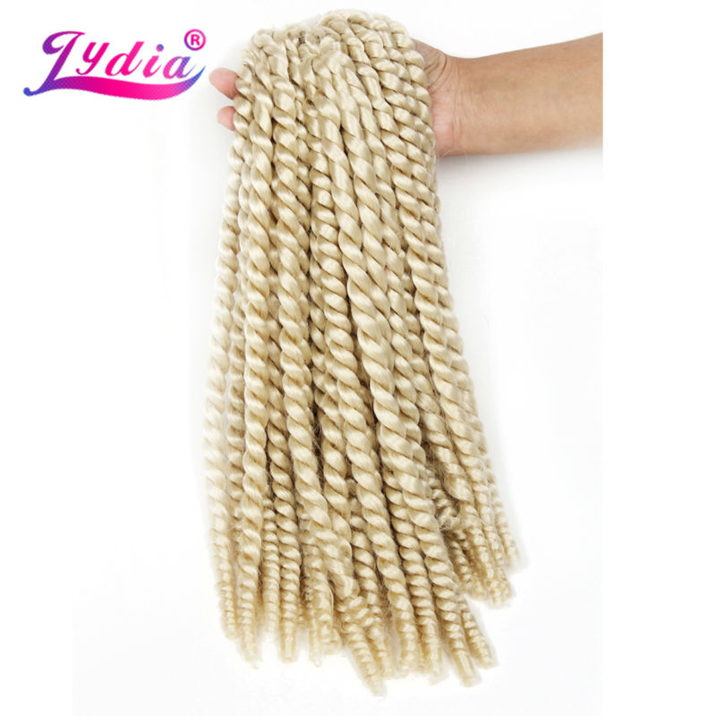 "Lydia For Women Syntetisk Senegalese Twist Braiding Hair Extension 18 ""6PCS / lot Havana Twist Crochet Latch Hook Box Braid Hair"