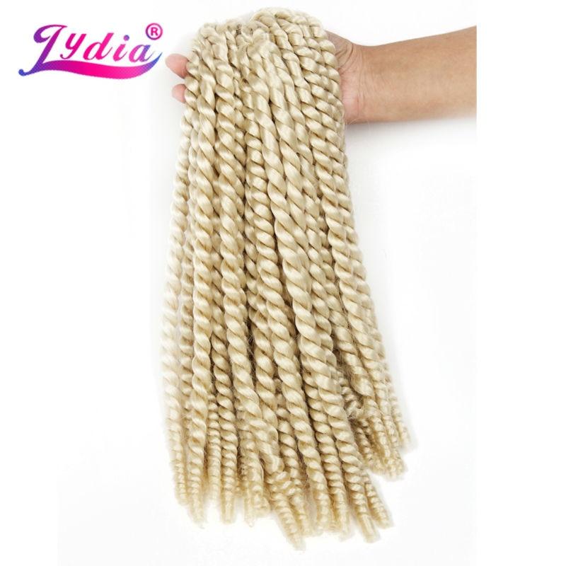 "Lydia For Women Synthetic Senegalese Twist Braiding Hair Extension 18"" 6PCS/lot Havana Twist Crochet Latch Hook Box Braid Hair"