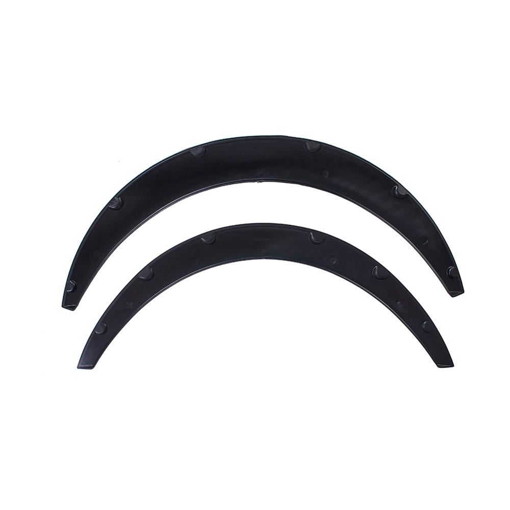 4pcs Universal Car Truck Wheel Eyebrow Protector Lip Trim Fender Flare Anti-scratch  Black Car Tires Eyebrow