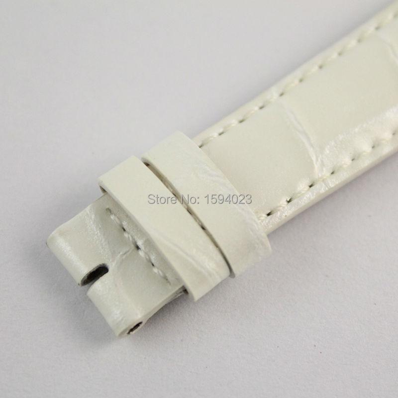 16mm (Buckle14mm) T099207A pour les femmes blanc en cuir véritable manteau de peinture bracelets de montre bracelet - 6