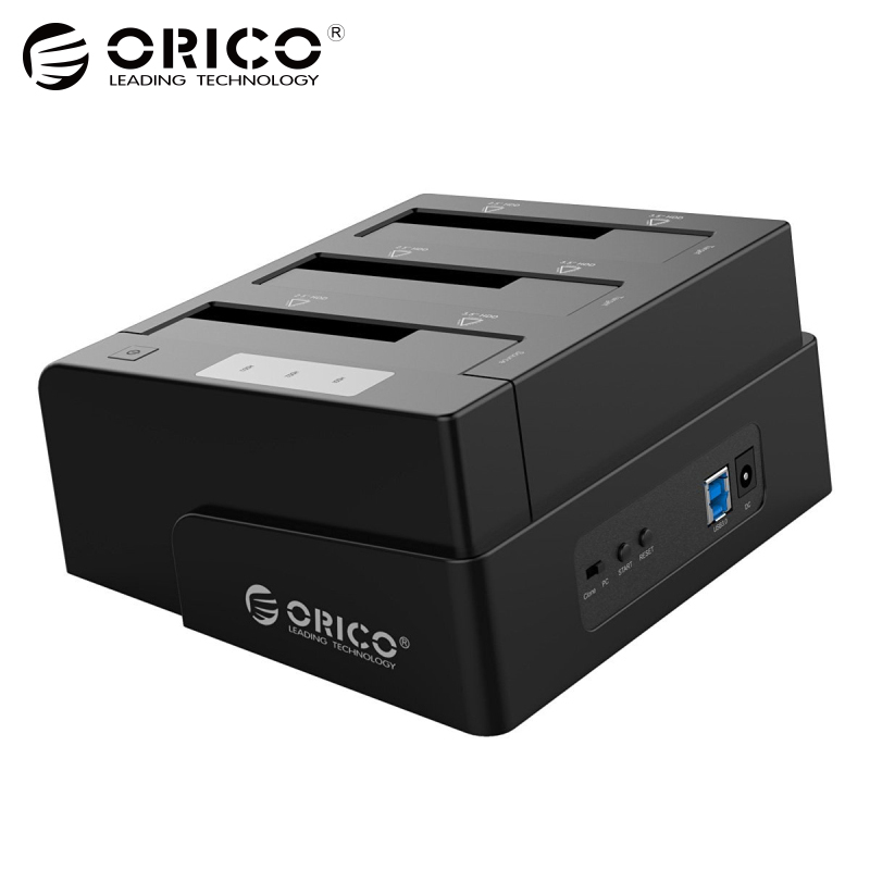 3-Bay USB 3.0 Duplicator Dock for 2.5 inch/3.5 inch SATA Hard Drive HDD Support Clone With 12V4A Power Adapter Support  18TB Max orico 6638us3 c usb 3 0 3 bay clone hard drive dock station