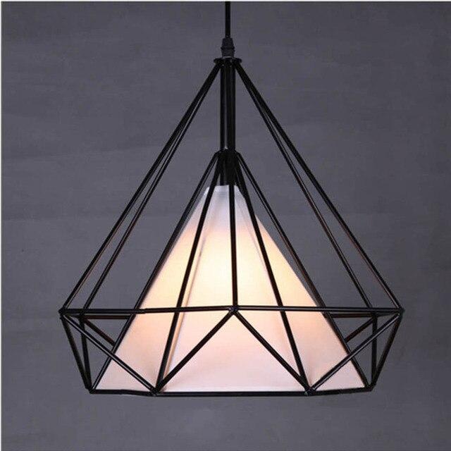 modern novelty innovative pendant lamp wrought iron cage lamp ikea vintage art luminaire deco. Black Bedroom Furniture Sets. Home Design Ideas