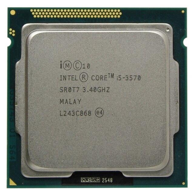 Intel i5 3570 processador quad-core 3.4ghz, l3 = 6m 77w soquete lga 1155 desktop cpu trabalhando 100% 2