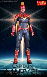 Image 2 - 28cm Crazy Toys Marvel Avengers Super Hero Captain Marvel Statue PVC Action Figure Collectible Model Toy