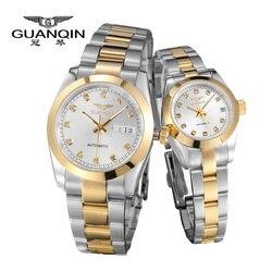 GUANQIN, роскошные часы для влюбленных, оригинал, Топ бренд, роскошные часы для пар, наручные часы, модные, водонепроницаемые, для мужчин и женщи...