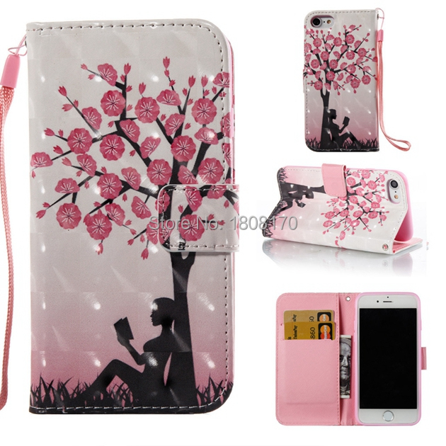 3D Butterfly Flower Wallet Leather Pouch Case For Iphone X For Samsung Galaxy S9 Plus Cartoon Owl Money Pocket Stand Cover 1pcs