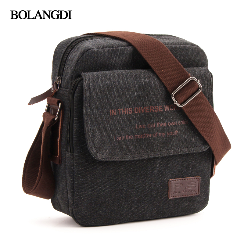 2018 BLD Brand Men Casual Messenger Flap Bag High Quality Briefcase Canvas Shoulder Bags For men Business Travel Crossbody Bag high quality casual men bag