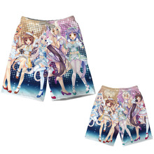 Cosroad Game Nekopara Cosplay Shorts Chocolat and Vanilla Sexy Beach Pants Men Summer Vacation Shorts