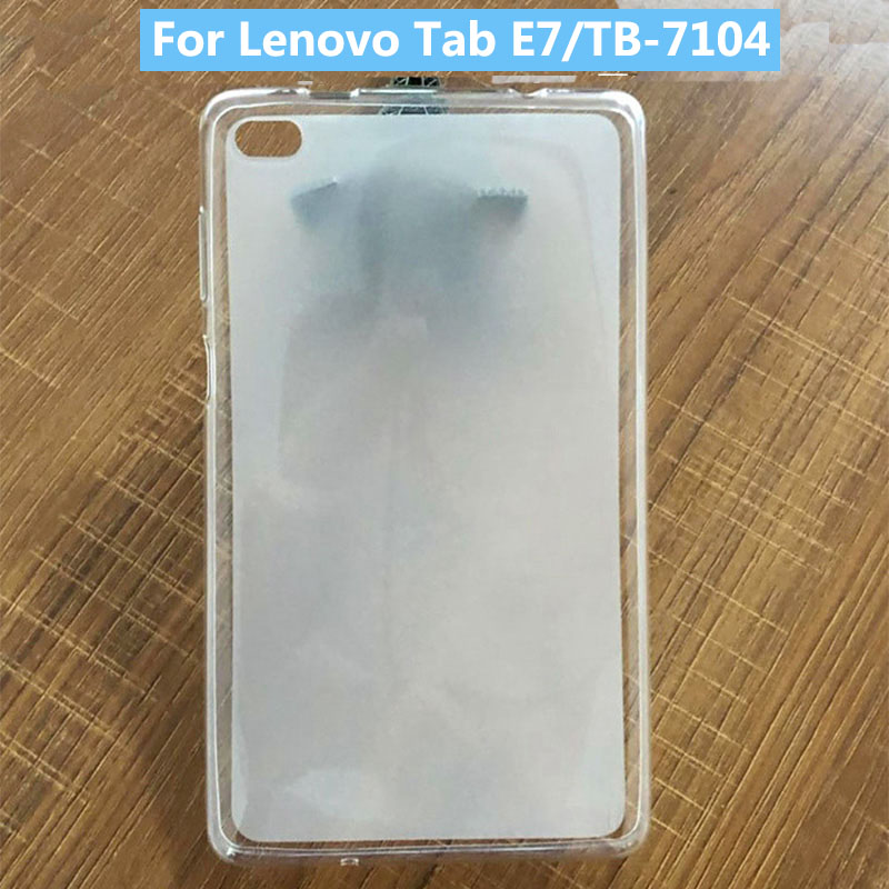 Soft TPU Gel Proctive Case Cover For Lenovo Tab E7