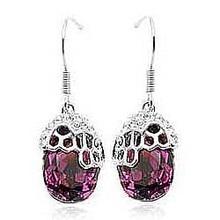 A24 Luxury Austrian Blue Austrian Crystal Earring  Party Earring for Ladies