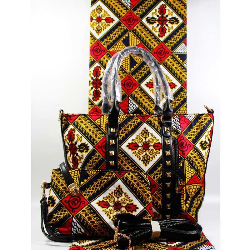 Couleur blanche véritable tissu de cire hollandaise correspondant à ankara sac ensemble de haute qualité véritable mode de cire populaire pour la pièce de mariage