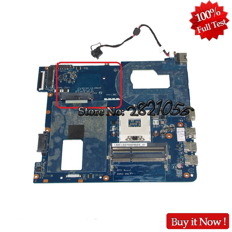 Nokotion BA59-03539A BA59-03539B QCLA4 LA-8862P for samsung NP350V5C NP350V5X Laptop motherboard HM76 Intel HD GMA graphics DDR3 fit for samsung np350 np350v5c 350v5x laptop motherboard qcla4 la 8861p ba59 03541a ba59 03397a ddr3 hd 7600m gpu 100