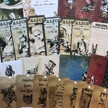 42 unids/pack Vintage alice sin goma manual material pegatina decorativa DIY álbum de recortes diario pegatina