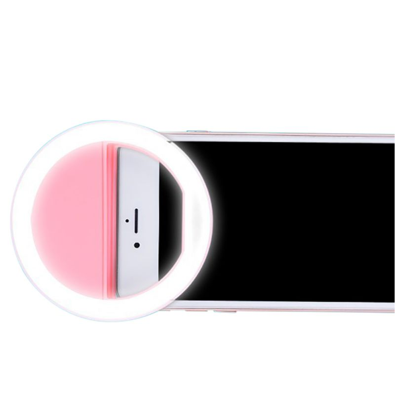 Universal Luxury Smart Phone LED Flash Light Up Selfie Luminous Phone Ring Spotlight For iPhone Android