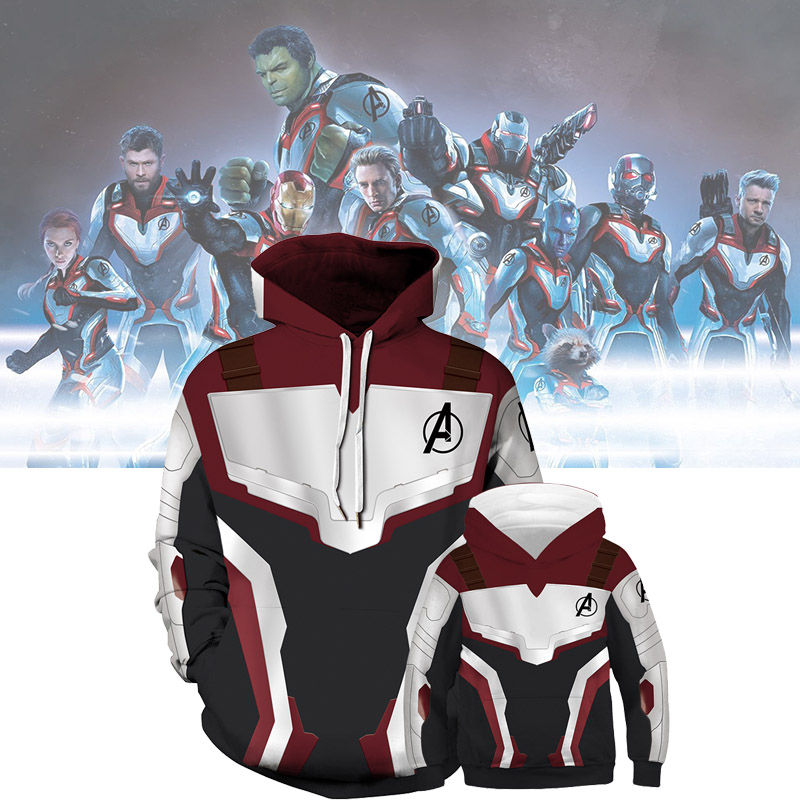 The Avengers 4 3D Printed Hoodies Family Matching Clothes Thin Sweatshirt Pullover Superhero Father and Son Matching Outfits