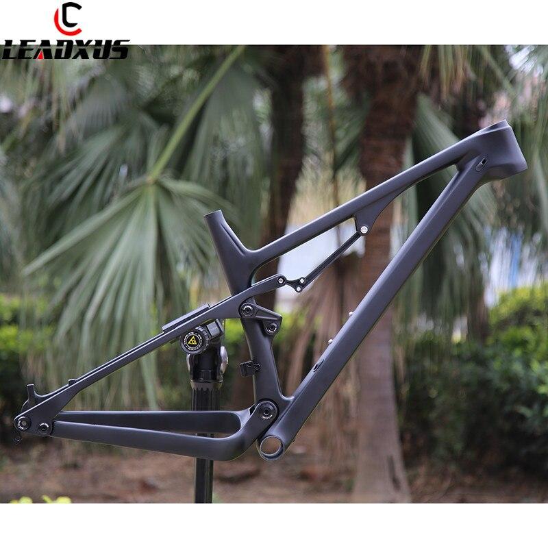 LEADXUS CV400 2019 Newest 29er Suspension Bicycle Carbon Frame 29 Inch Suspension Carbon Fiber Bike Frame Size 15.5/17.5/19