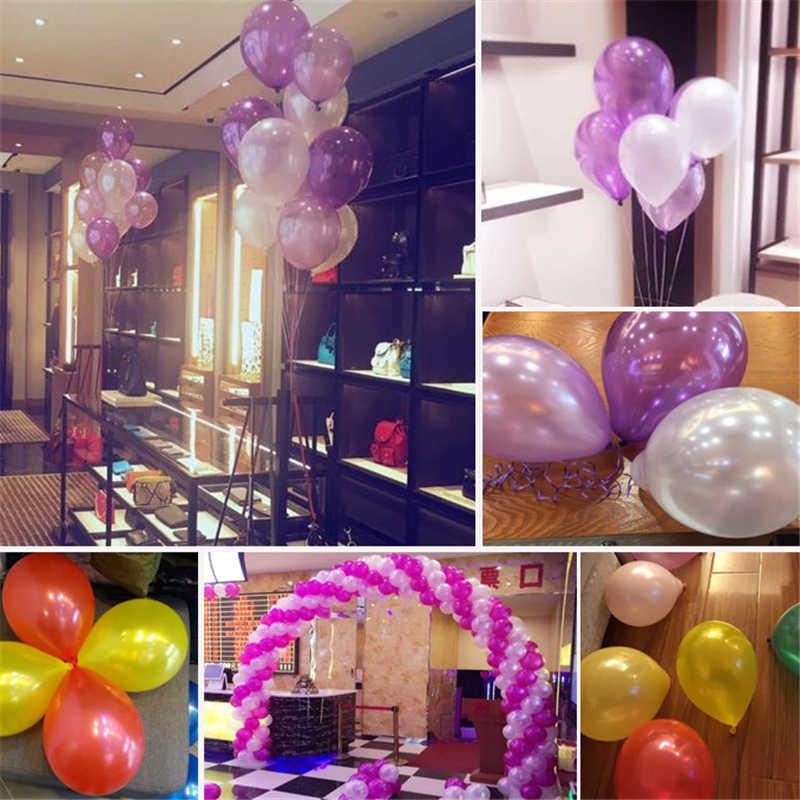 Srebrny balon 10 sztuk/partia 12 cal lateksowe balon piłka powietrza nadmuchiwane wesele ozdobny balon z okazji urodzin strona dostaw