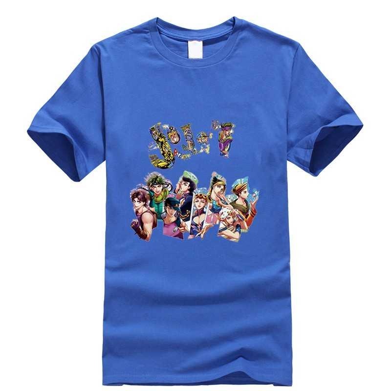 2019 New T shirt Jojo Bizarre Adventure Thsirt Japan Anime Cartoon Fashion Summer Dress Men Tee Clothing Funny T Shirt Retro in T Shirts from Men 39 s Clothing