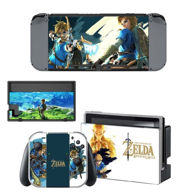 NS Game Skin Nintend Switch Console Sticker Vinyl Decal Skins Kit for Nintendo Switch Console and Controller 5