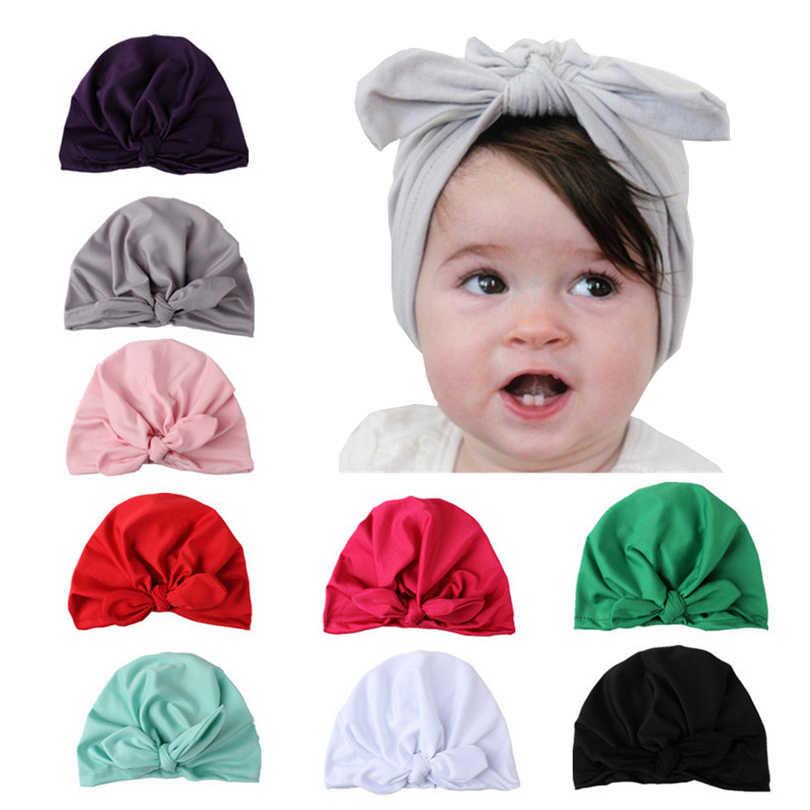 63fb8ffa02d Haimeikang Cute Kid Elastic Wide Milk Silk Turban Cap Rabbit Bowknot Print  Headband Headwear Hair Band