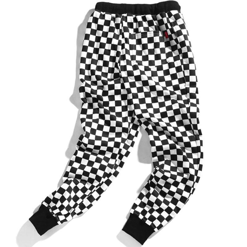 Aolamegs Pants Men Plaid Checkerboard Pants Fleece Thick Trousers Pants Mens Tactical Elastic Waist Fashion Joggers Sweatpants (8)