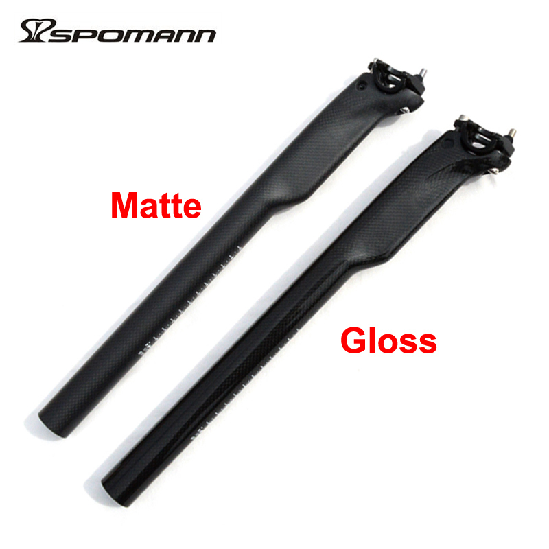 ჱspomann Full Carbon Bike Seatpost Mountain Road Cycling Bicycle
