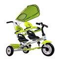 Gire assento espuma pneu gêmeos carrinho triciclo trike assento duplo bebê 2 cores para disponível