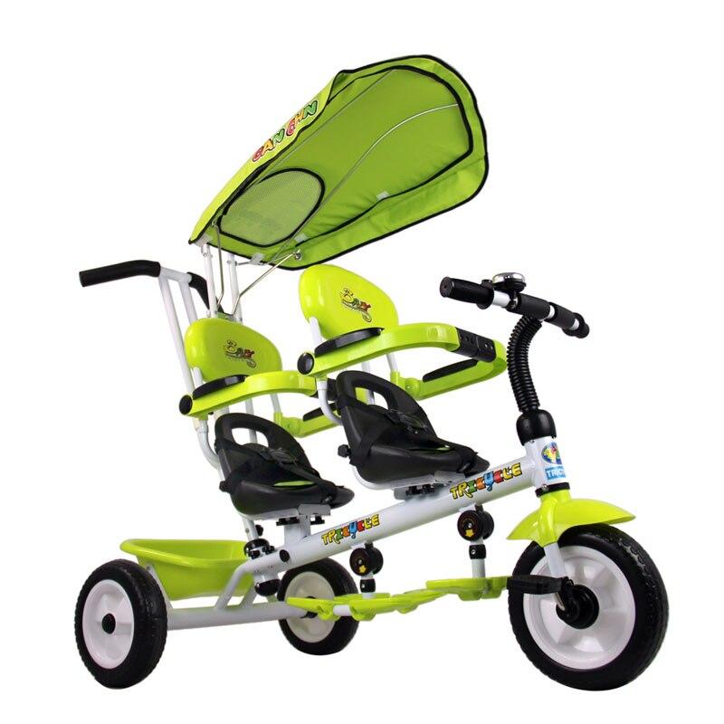 Twins drehen sitz schaum reifen wagen dreirad doppelsitz baby trike 2 farbe...