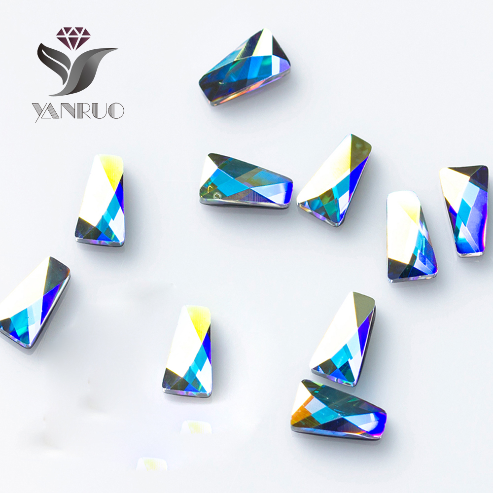 YANRUO 144pcs 3x6mm Cristal AB 3D Diamant Nail art Strass Strass - Manucure