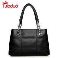 Women S Shoulder Bags PU Leather Plaid Bag Brand Designer Ladies Chain Handbag Women Casual Tote