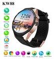 Новый KW88 Bluetooh Smartwatch Smart Watch Шагомер Монитор Сердечного ритма для Samsung S6 S7 Note 7 Android Smartwatch PK GT88 KW18