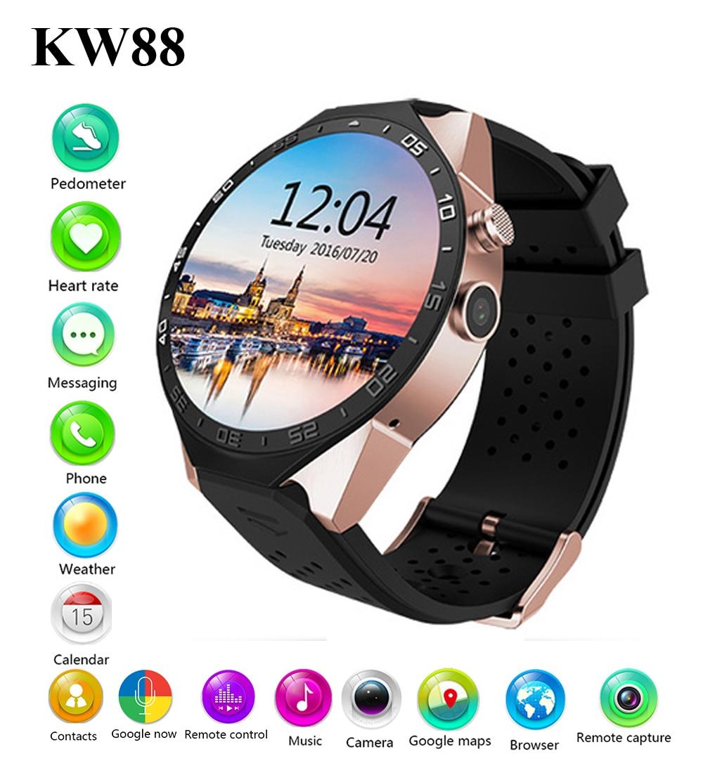 Cnc Cemsa Working Myanmar: New KW88 Bluetooh Smart Watch Pedometer Heart Rate Monitor