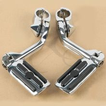 Motorcycle 1-1/4 Highway Foot Pegs Engine Guard Mounts Clamps For Harley Touring Electra Road Sport Super Glide