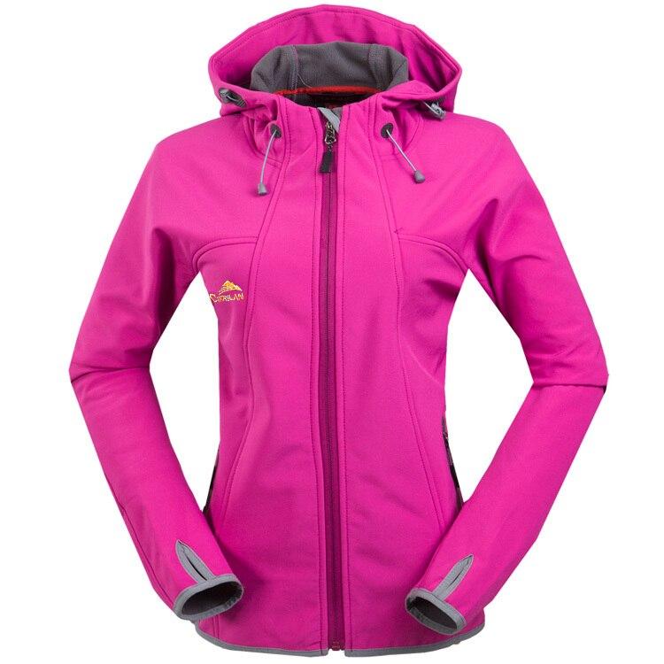 Women Outdoor Fleece soft shell jacket warm Sports hiking climbing running outdoor  jacket-in Hiking Jackets from Sports   Entertainment on Aliexpress.com ... b8c6db75c
