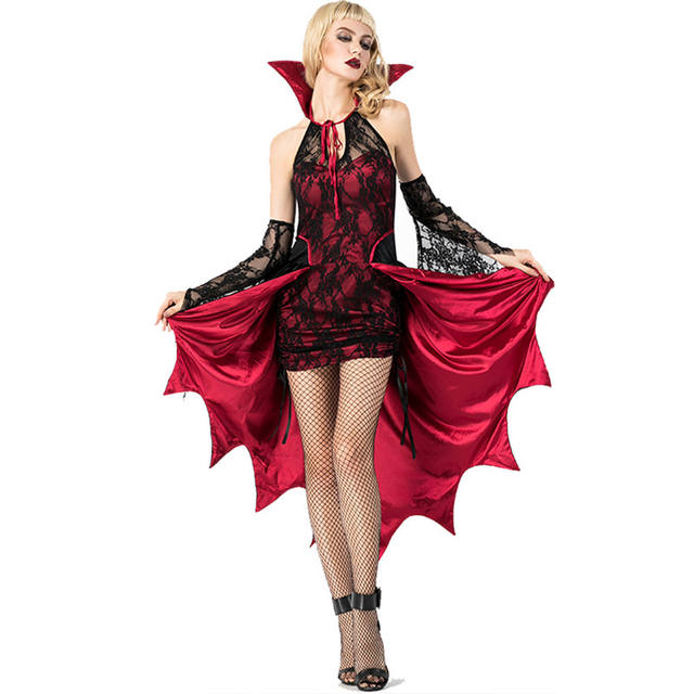 Women's Embroidered Gothic Witch Dress Costume
