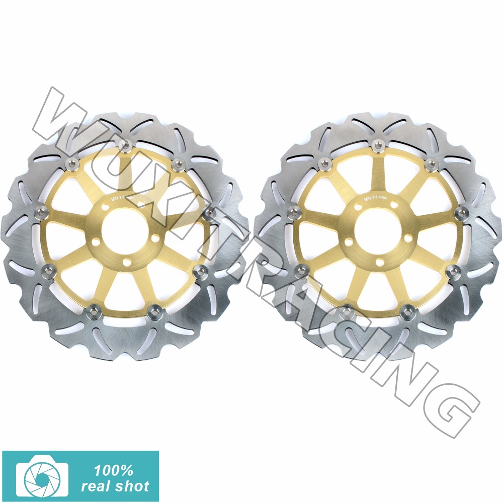 Front Brake Discs Rotor for KAWASAKI ZZR 1100 1200 1993-2005 ZX12 R NINJA 1200 2000-2003 VN 1500 1600 2002 2003 2004 05 06 07 08 front brake discs rotors for moto guzzi breva 850 1100 1200 05 08 griso 850 1100 1200 05 16 norge 850 1200 06 07 sport 1100 1200