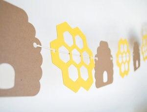 Honey Bee grzebień ślub birthday party banery girlandy 5' długości dla nowożeńców baby shower dekoracje
