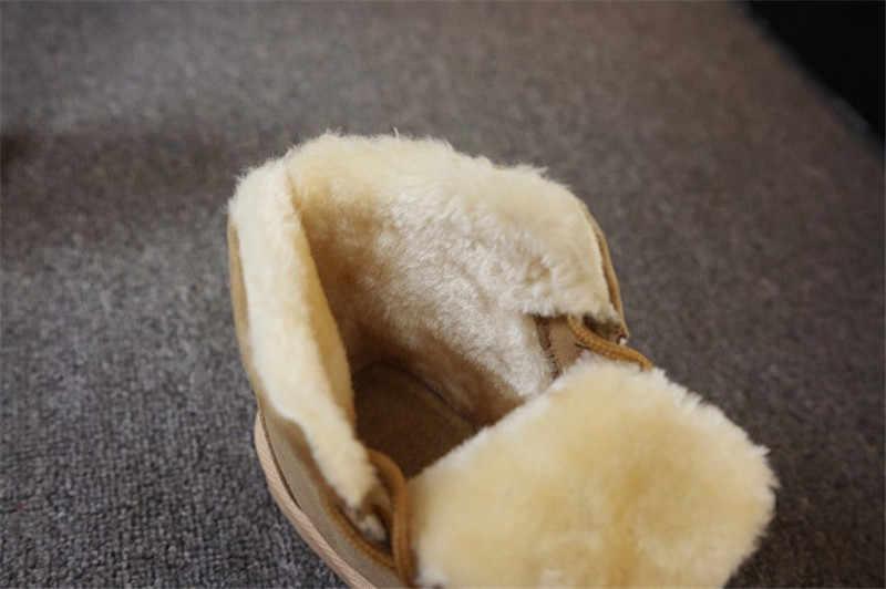 Marka Kadın Kar Botları Sıcak Kış Süet Çizmeler Botas Mujer Lace up Kürk yarım çizmeler Düz Topuklu Bayan rahat ayakkabılar 5 Renkler