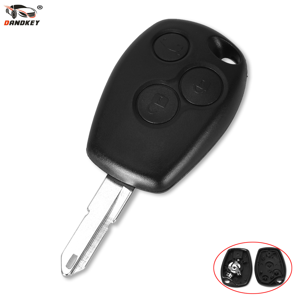 цена на DANDKEY 3 Button Key Case For Renault Trafic Vivaro Primastar Movano Remote Fob Shell 206 207 307 306 Key