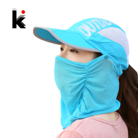 Summer Outdoor Sports Visor Women Hat Folded Cap Summer Hats For Women With Neck Protection Baseball