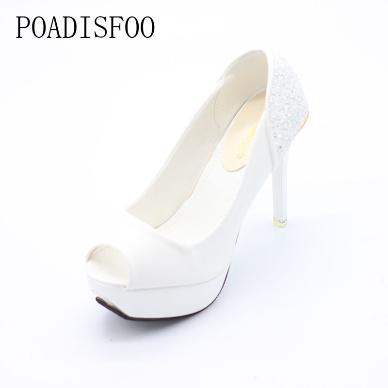 2017 new summer female shoes women platform white with fish mouth women's sandals high-heeled shoes single shoes.XL-YZ women sandals 2017 summer gauze high heeled shoes lace fish mouth women sandals fashion summer ankle boots s069