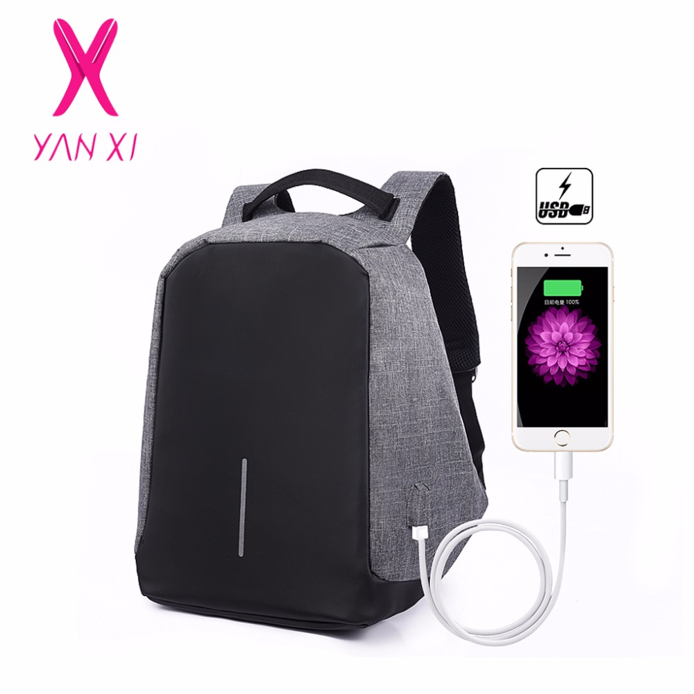 YANXI New Women Backpacks Female Oxford Anti Theft Backpack Bag USB Charge 15 Inch Laptop Mochila Waterproof Travel Back Pack voyjoy t 530 travel bag backpack men high capacity 15 inch laptop notebook mochila waterproof for school teenagers students