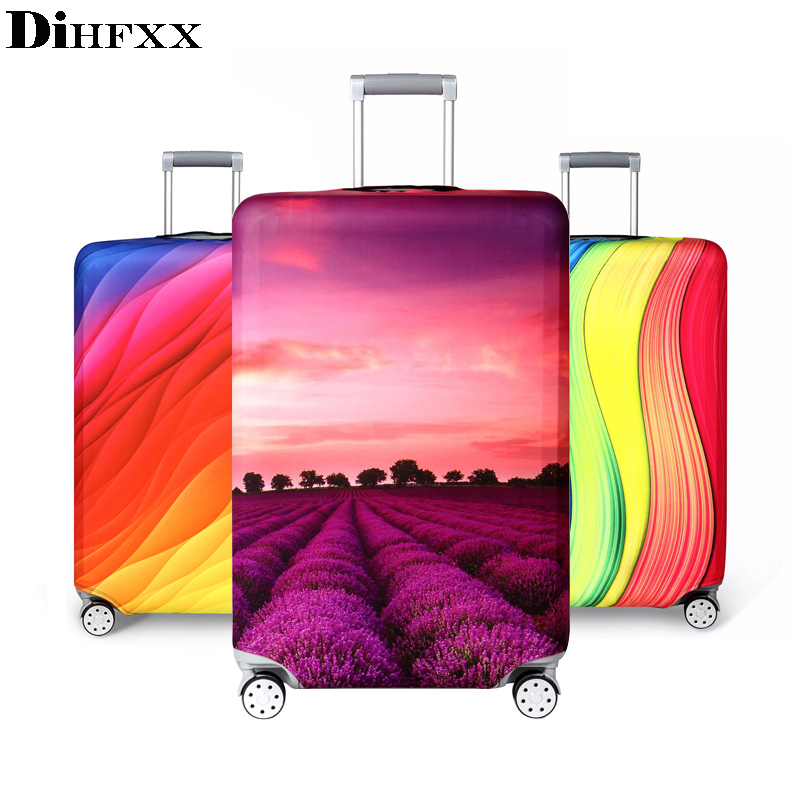 Trolley Case Suitcase Dust Cover Travel Accessories Elastic Fabric Luggage Protective Cover Suitable18-32 Inch DX-09 цена