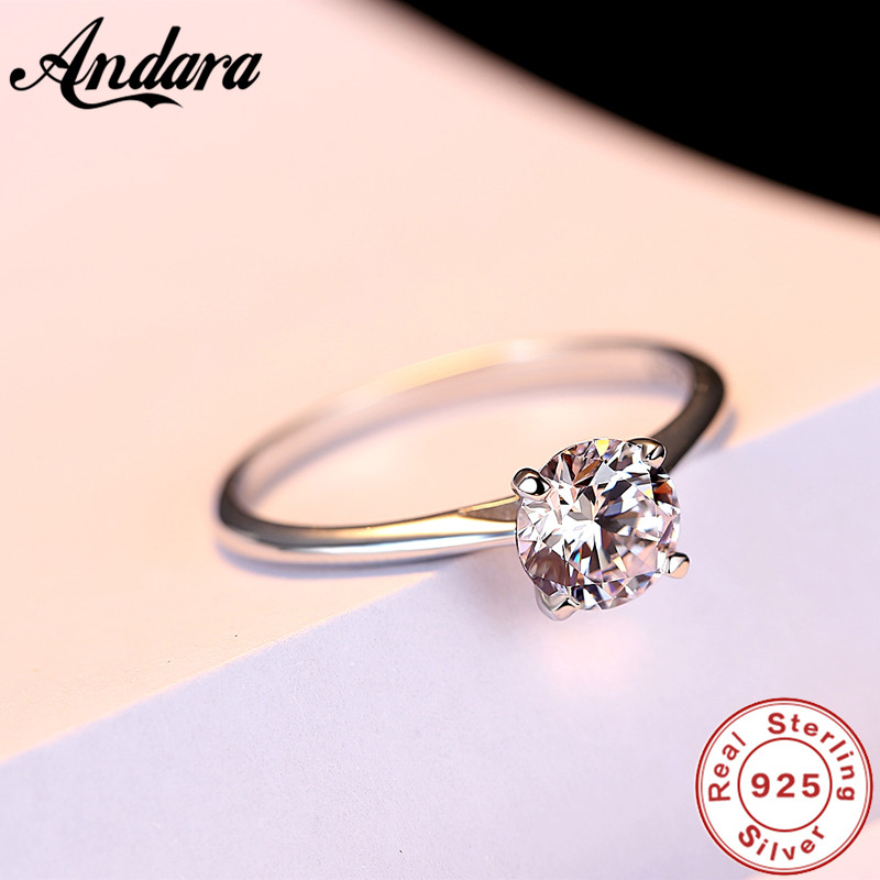 100% 925 Sterling Silver Rings for Women Wedding Engagement Acessories Cubic Zirconia Jewelry Big Promotion